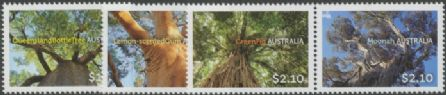 AUS SG4336-9 Australian Trees set of 4 including pair